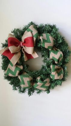 Hey, I found this really awesome Etsy listing at https://www.etsy.com/listing/207327635/chevon-burlap-holiday-wreath