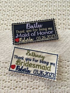 Thank you Wedding Personalised MOH Bridesmaid Plaque Wooden Sign Card W226