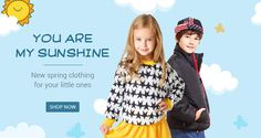 YOU ARE MY SUNSHINE, New spring clothing for your little ones, Up to 50% off.