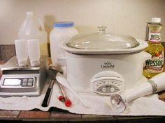 Great Instructions on making liquid soap from scratch with your slow cooker!!