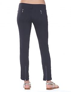 SUSAN: Similar to the Skyler, these pants have a slim fit but are jazzed up with some dashes of flare including zippers at the ankles and back pockets for a little flavor.