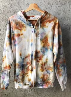 Tie Dye T-Shirt Size Small S Oil Slick Modern Blue Marble Tiger Blue Gray