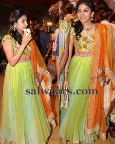 Tri Color Frock Style Salwar   Indian Dresses