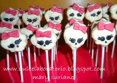 cake pops monster high *Dulce Laboratorio*