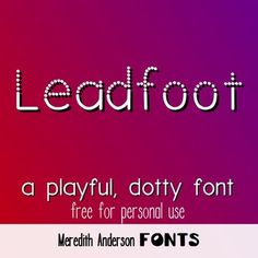 This is a playful, handwritten display font that it dotted at the top and solid at the bottom. Please download for free personal use. If you like it and want to use it commercially, please visit my listing for a commercial font license.Thank you for looking!