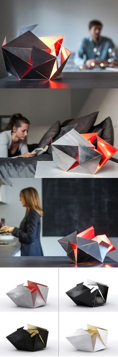 Wayyyyy back when, we featured a unique flat-pack folding lamp and now it's back…