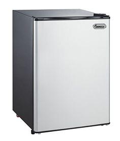 Impecca RC-1265SL 2.6 cu. ft. Classic Compact Single Door Reversible Door Refrigerator and Freezer, Titanium
