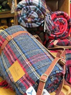 Pendleton wool blankets. Nice to have some warm blankets when going on an adventure!