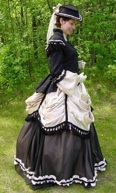 Victorian Day Dress.  I would love to go back to the Victorian days. I would love to wear their style clothing