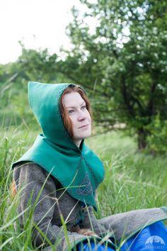 """Viking Woolen Hood """"Ingrid"""