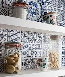 Batik Patchwork Blue Tile from Topps Tiles £55 per m2 http://www.toppstiles.co.uk/range427/page1/batik