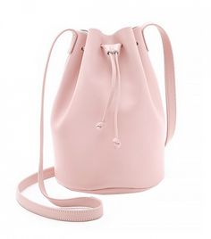 We love bucket bags! Especially this blush BAGGU Drawstring Bucket Bag.