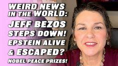 LOOKING INTO JEFF BEZOS STEPPING DOWN! + EPSTEIN - ALIVE & ESCAPED? + NO... Nobel Peace Prize, Weird News, Youtube, Tarot Cards, Tarot Card Decks, Youtubers, Tarot, Tarot Spreads, Youtube Movies