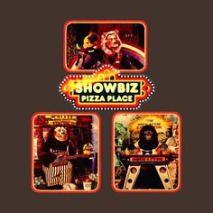 Check out this awesome 'showbiz+pizza' design on @TeePublic!