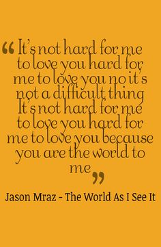 Jason Mraz - The World As I See It