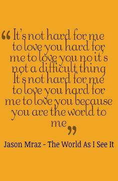 Jason Mraz - The World As I See It