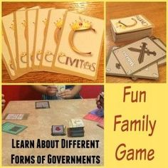 Civitas Game for ages 10 and up; homeschool tool to learn about world governments