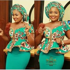 Classy picture collection of Beautiful Ankara Skirt And Blouse Styles These are the most beautiful ankara skirt and blouse trending at the moment. If you must rock anything ankara skirt and blouse styles and design. African Fashion Ankara, Latest African Fashion Dresses, African Print Fashion, Africa Fashion, African Wedding Attire, African Attire, African Wear, African Blouses, African Lace Dresses