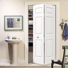Woodgrain 3-Panel Hollow Core Molded Interior Bi-fold Closet Door-THDJW160600149 - The Home Depot