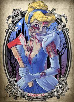 Zombified Disney characters - Cinderella