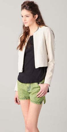 Theory Yelda Leather Jacket   orig 815