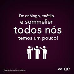 Entenda a diferença entre enólogo, enófilo e sommelier. #wine #vinho #enologo #enofilo #sommelier