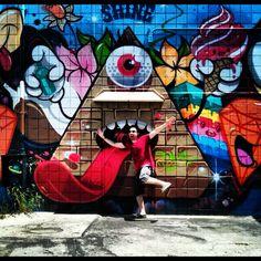 Open wide. #artwalk in Culver City. #streetart