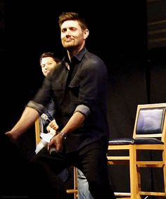 [gif] :O ...and yes, even more Jensen dancing. I'm going to need some therapy after watching these. #JIB2013