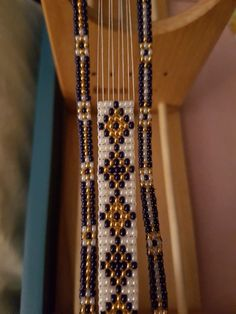 Making a Trio. Navy Gold and Pearl Bead Loom. 2019 Making a Trio. Navy Gold and Pearl Bead Loom. The post Making a Trio. Navy Gold and Pearl Bead Loom. 2019 appeared first on Weaving ideas. Loom Bracelet Patterns, Bead Loom Bracelets, Bead Loom Patterns, Beaded Jewelry Patterns, Beading Patterns, Beading Ideas, Seed Bead Jewelry, Bead Jewellery, Marine Gold