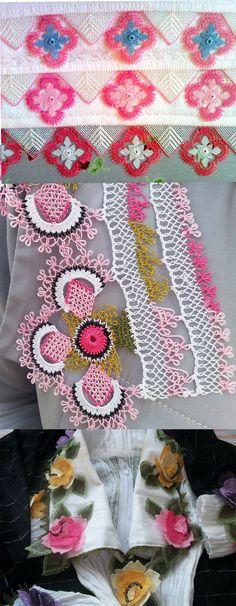 pembe oyalar . Needle Tatting, Needle Lace, Bobbin Lace, Lace Making, Flower Making, Teneriffe, Bargello, Crochet Flowers, Color Combos