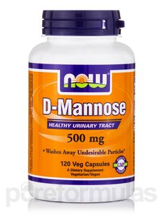 NOW Urinary Support - D-Mannose 500 mg - 120 Capsules
