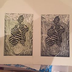 Personal projects on the weekend. #design #art #woodcut #print