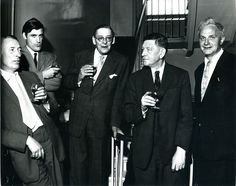 Louis MacNeice, Ted Hughes, T.S. Eliot, W.H. Auden, Stephen Spender, photo from Faber