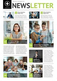 Multipurpose Newsletter v.03 Newsletter Format, Newsletter Design Templates, Company Newsletter, Web Design, Flat Design, Newspaper Design Layout, Email Marketing Design, Internet Marketing, Event Poster Design