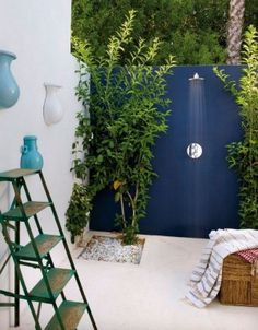 ducha exterior jardin