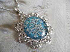 Queen Anne's Lace Pressed Flower Filigree by giftforallseasons