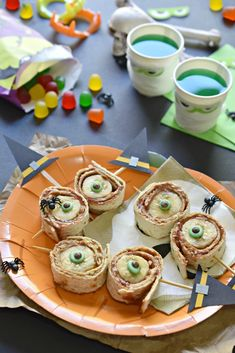 Creepy Eyeball Roll Ups for your kid's Halloween classroom party