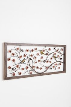 birds and flowers headboard, also works as wall decor $159