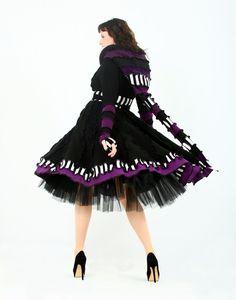 Upcycled Black Coat - Reserved for Nanette. $428.00, via Etsy.