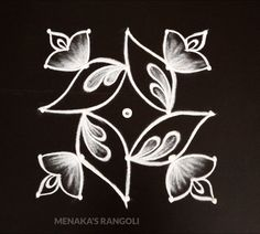 Simple Flower Rangoli, Simple Rangoli Border Designs, Simple Rangoli Kolam, Rangoli Designs Flower, Free Hand Rangoli Design, Small Rangoli Design, Rangoli Ideas, Rangoli Designs With Dots, Rangoli Designs Diwali