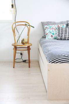Textiles from Marimekko, Artek ... hunajaista makuuhuone sisustusblogi peikonlehti marimekko avaroom tom dixon