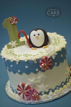 Gallery album : kidsbday - A Piece O' Cake Xmas Cakes, Christmas Cakes, Holiday Cakes, Penguin Cakes, Penguin Party, Fondant Cakes, Cupcake Cakes, Cupcakes, Winter Onederland
