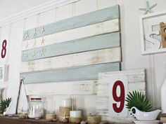 Mantle styling summer - love this.