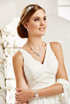 Stilvoller Brautschmuck: Diadem, Ohrringe, Halskette & Armband | von Weise #Hochzeit #Schmuck
