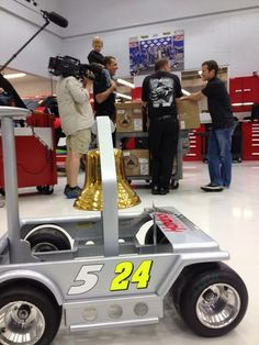 It's #KaseyKahne's turn to celebrate with the Victory Bell! #nascar