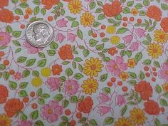 BEST Vintage Feedsack Quilt Fabric Tiny Calico Floral 1940s Flour Sack Material