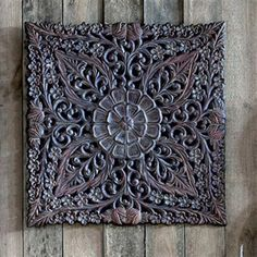 Graham & Brown - Ornate Ethinic Panel, Metal Art Panel, 60.5x60.5cm