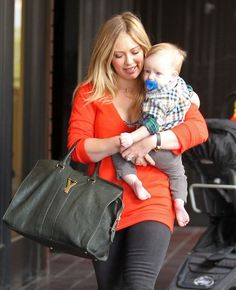 Hilary Duff's LA Afternoon Is All About Little Luca : Hilary Duff had her hands full in Sherman Oaks.