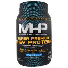 Maximum Human Performance, LLC, Super Premium Whey Protein, Vanilla, 1.82 lbs (825 g)