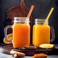 Easy Smoothies, Smoothie Drinks, Smoothie Recipes, Ginger Vitamins, Summer Detox, Ginger Drink, Recipes From Heaven, Detox Recipes, Superfood